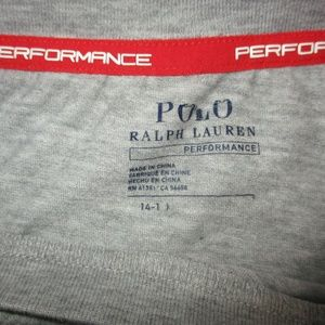 Polo by Ralph Lauren Shirts & Tops - Polo Ralph Lauren Performance Gray Boys 14-16 Tee